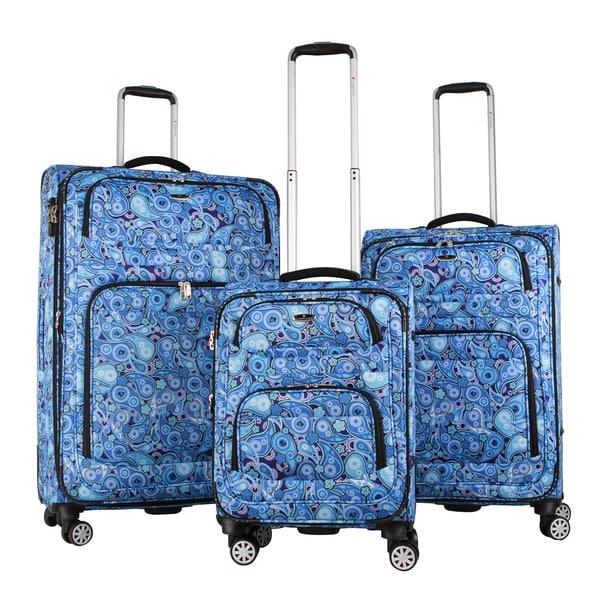 Gabbiano Verona 3-piece Expandable Softside 8-wheel Spinner Luggage Set 16694430
