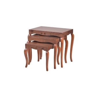 New Modern Contemporary Victor Nested tables (3 tables) #7341 in Walnut Veneer