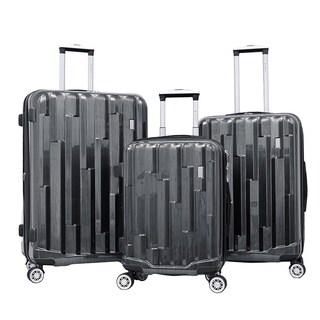 Gabbiano Abstract 3-piece Expandable Hardside Spinner Luggage Set