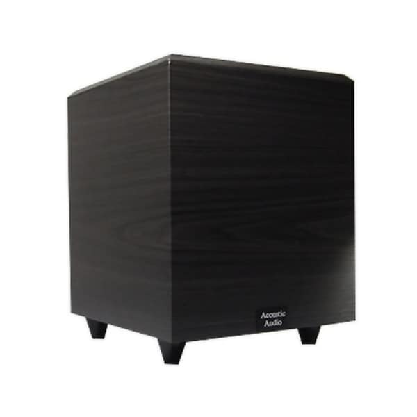 Acoustic Audio Black RWSUB-10 400 Watt 10-Inch Down Firing Powered Subwoofer