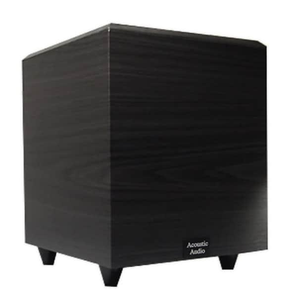 Acoustic Audio Black PSW-10 400 Watt 10-Inch Down Firing Powered Subwoofer