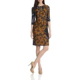 RMLL Women's Floral Print Knit Dress