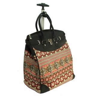 Rollies Aztec Rolling 14-inch Laptop Print Travel Tote Bag