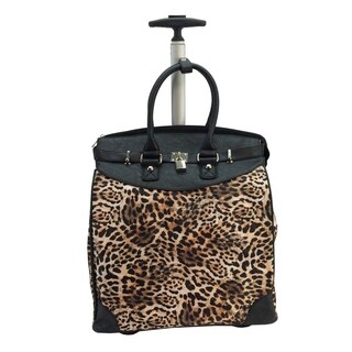 Rollies Leopard Rolling 14-inch Laptop Travel Tote