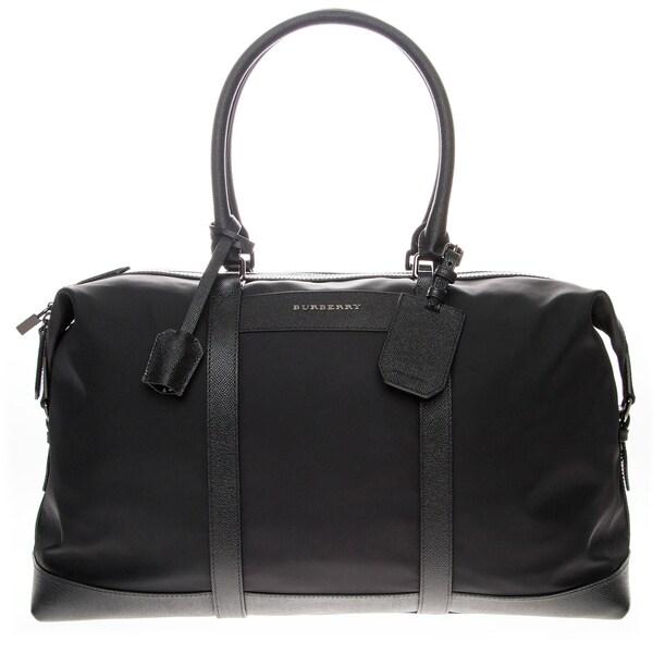 Burberry London Leather trim Holdall Duffel Bag