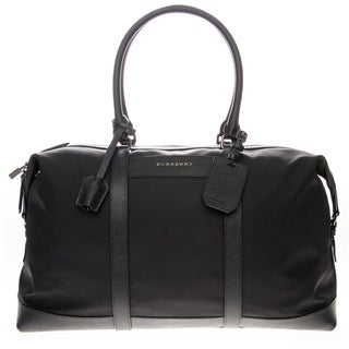 Burberry London Leather trim Holdall Duffel Bag