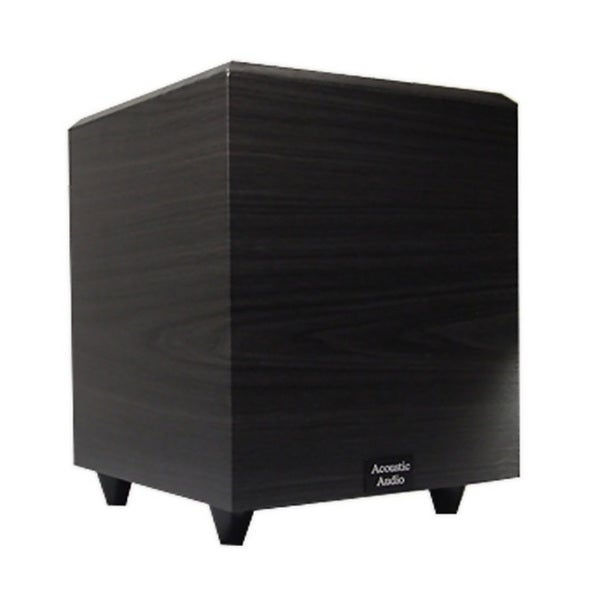 Acoustic Audio Black PSW-6 Down Firing Powered Subwoofer