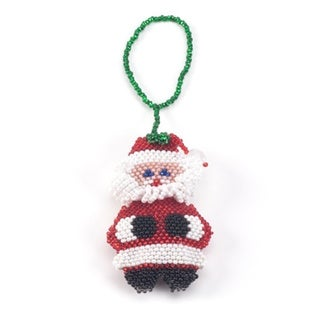 Beaded Snowman Christmas Ornament
