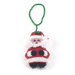 Beaded Santa Christmas Ornament
