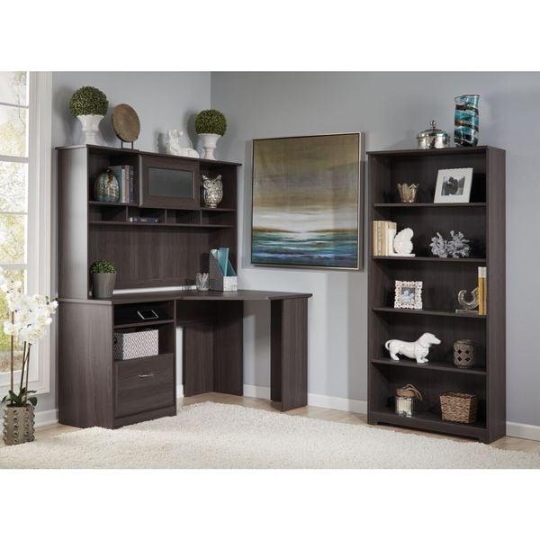 Bush Furniture Cabot Corner Desk With Hutch And 5 Shelf
