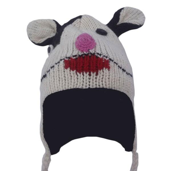Wool Fleece Lined Ear Flap Sherpa Skiing Winter Hat (Nepal)