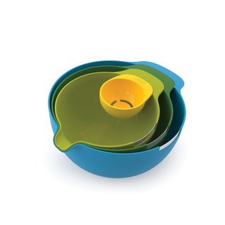 Joseph Joseph 4-piece Mixing Bowl Set with Egg Yolk Separator Nest Mix