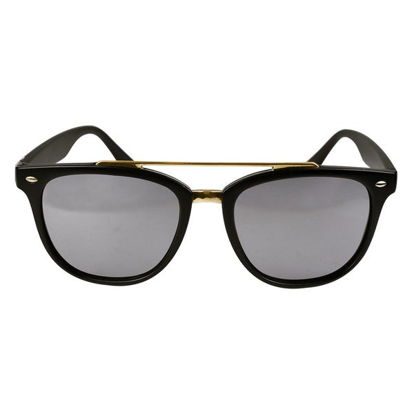 Classic Aviator Matt Black Mirror Lens Sunglasses