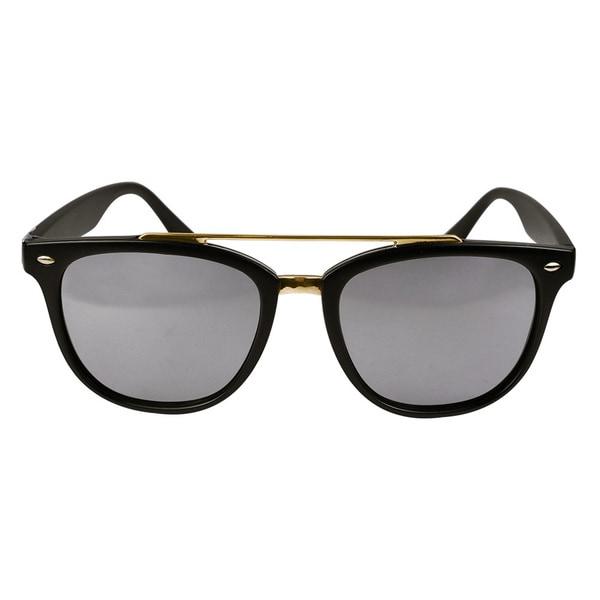 Classic Aviator Matt Black Mirror Lens Sunglasses