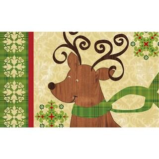 Indoor/ Outdoor Modern Reindeer Doormat (18 x 30)