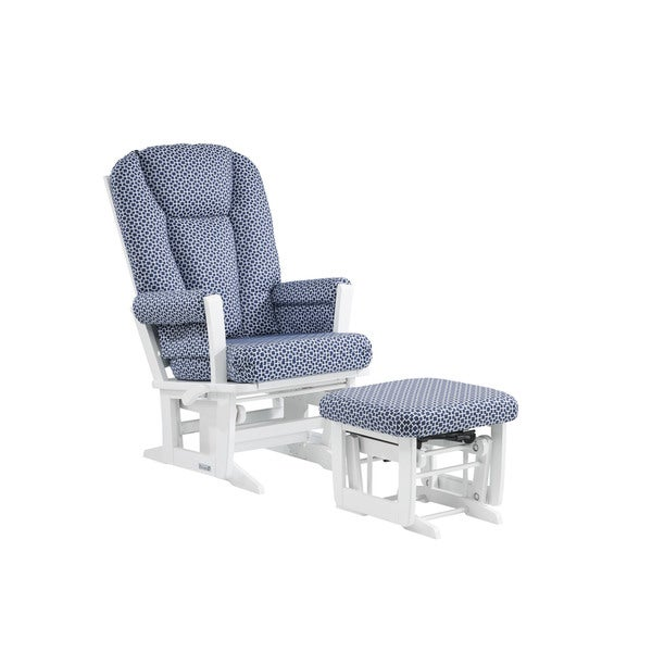 Ultramotion by Dutailier Modern Glider/ Multiposition Recliner and Nursing Ottoman Combo