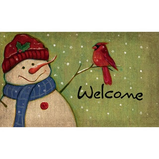 Indoor/ Outdoor Rustic Snowman Doormat (18 x 30)