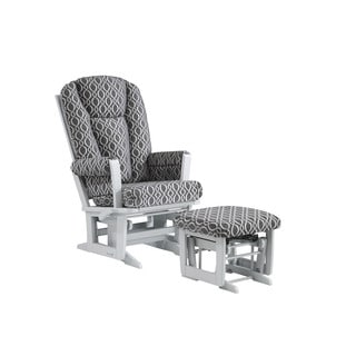 Ultramotion by Dutailier Modern Multiposition Glider with Nursing Ottoman Combo