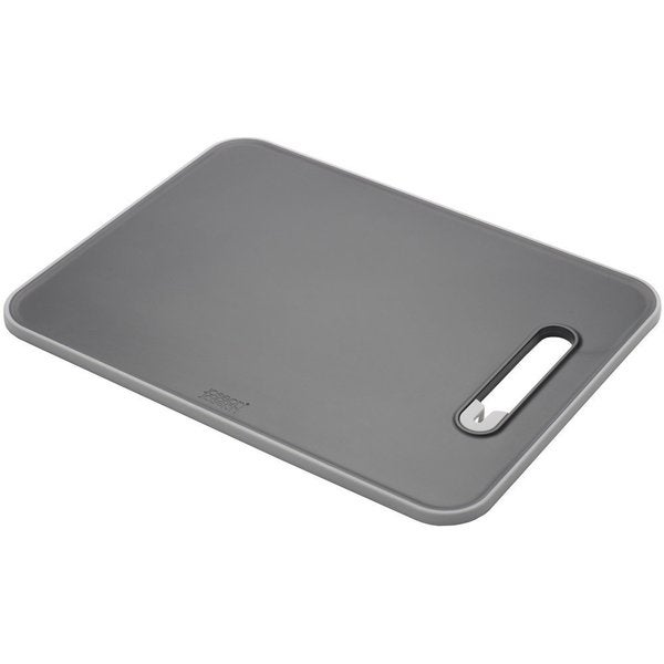 Joseph Joseph Black Chopping Board with Integrated Knife Sharpener