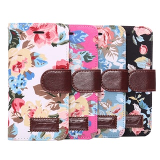 iPM Floral Leather Wallet Storage Case For iPhone 6