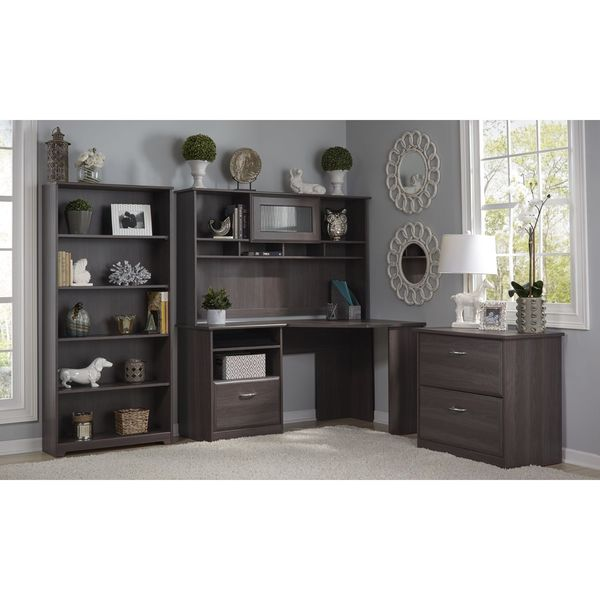 Bush Furniture Cabot Collection Corner Desk With Hutch