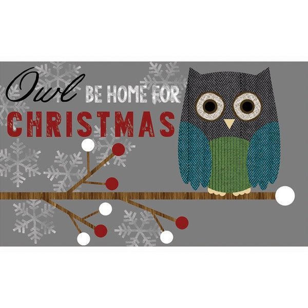 Indoor/ Outdoor Owl Be Home X-mas Doormat (18 x 30)
