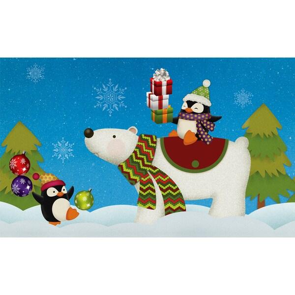 Indoor/ Outdoor Penguins/ Polar Bears Doormat (18 x 30)