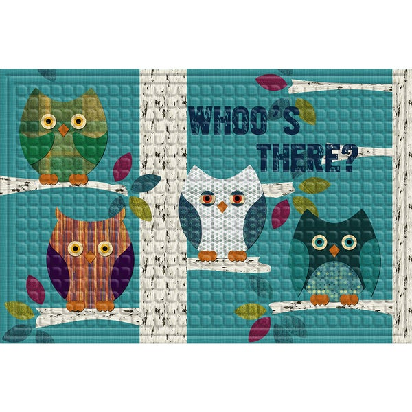 Indoor/ Outdoor Patchwork Owl Doormat (24 x 36)