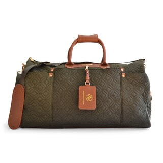 Adrienne Vittadini Quilted Nylon Duffle