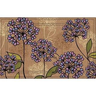 Indoor/ Outdoor Hydrangeas Doormat (18 x 30)