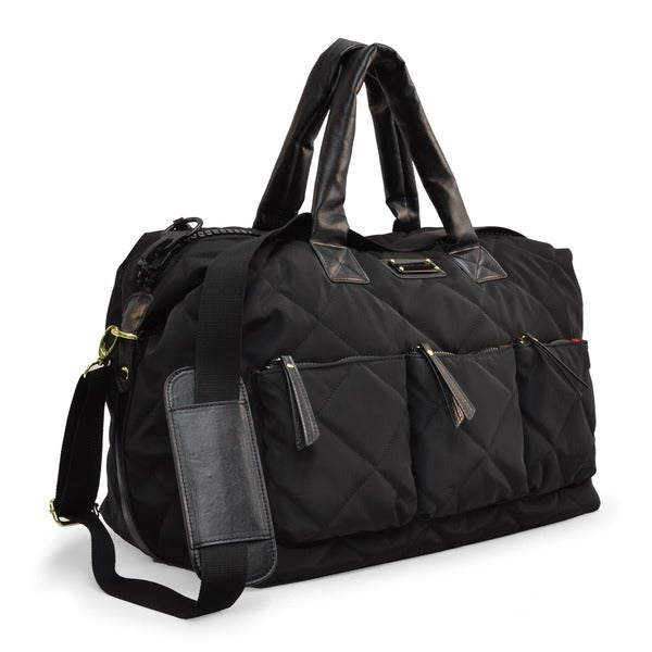 Adrienne Vittadini Large Quilted Nylon Duffle 17857164