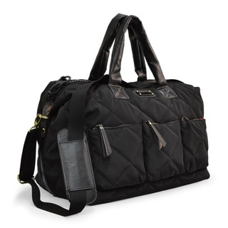 Adrienne Vittadini Large Quilted Nylon Duffle