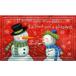 Indoor/ Outdoor Snowman Pickup Doormat (18 x 30)