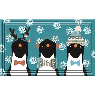 Indoor/ Outdoor Nordic Penguins Doormat (18 x 30)