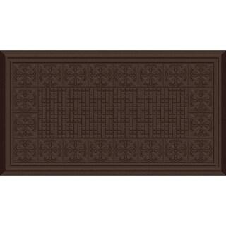 Indoor Fleur De Lis Chocolate Kitchen Mat (20 x 36)