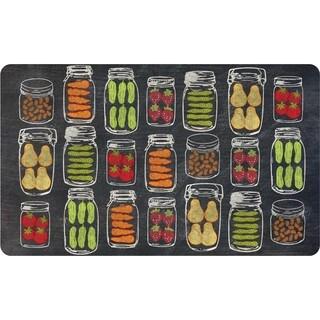 Indoor Veggie Jars Kitchen Mat (18 x 30)