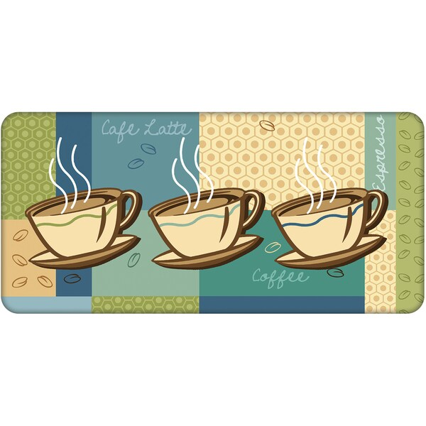 Indoor Coffee Cups Kitchen Mat (22 x 34)
