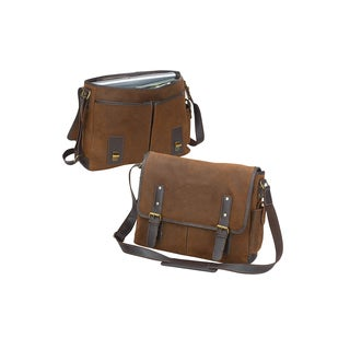 Bellino Vintage 17-inch Laptop Leather Flapover Messenger Bag