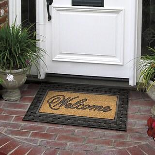 Outdoor Basketweave Coir Inset Doormat (18 x 30)