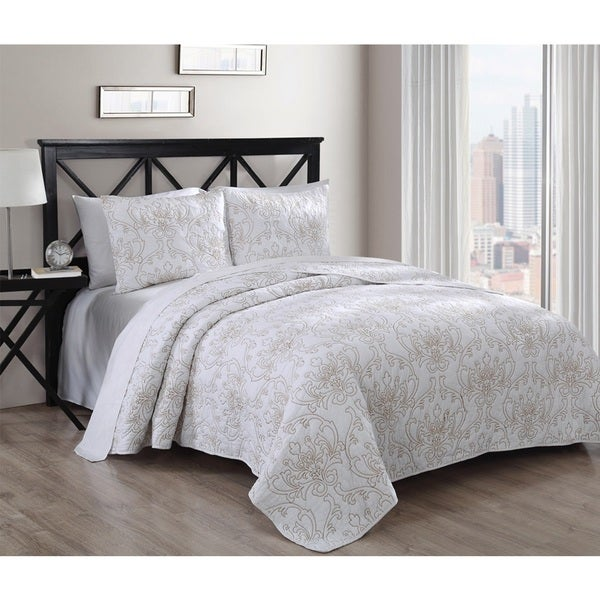 Simone 3-piece Cotton Quilt Set