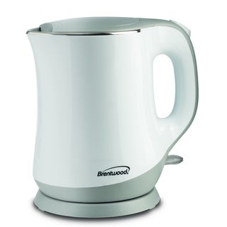 Brentwood KT-2013W White Cool Touch 1.3-liter Electric Kettle