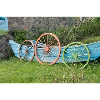 Decorative Antique Wagon Garden Wheel (Set of 3)