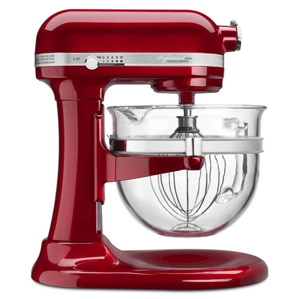 KitchenAid KSM6521XCA Candy Apple Red Professional 6500 Series Stand Mixer