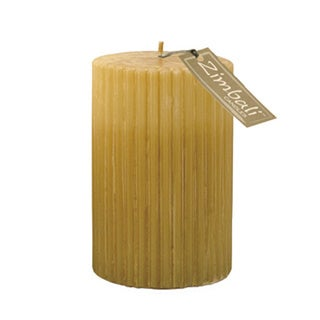 "NLC Embers Home Decorative Ribbed 4"" x 6"" Pillar Candle"