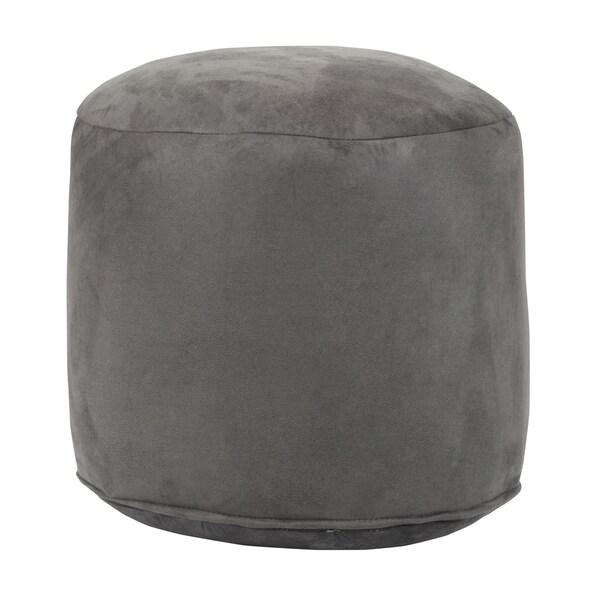 Grey Pouf Ottoman