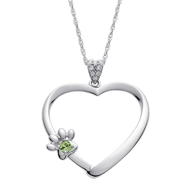 Lasting Expressions By Deborah Birdoes Sterling Silver My Special Pet Birthstone Pendant