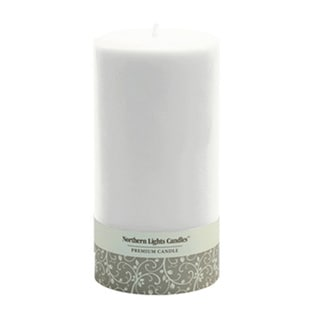 NLC Unfragranced Pillar Tabletop Decorative Candle