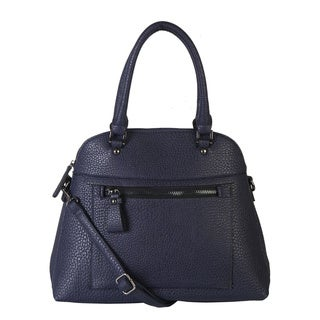 Diophy Faux Leather Front Zipper Handbag
