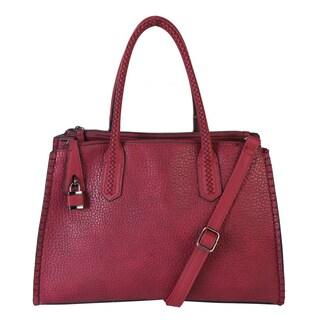 Diophy Double Rolled Handle Stitch Detal Handbag