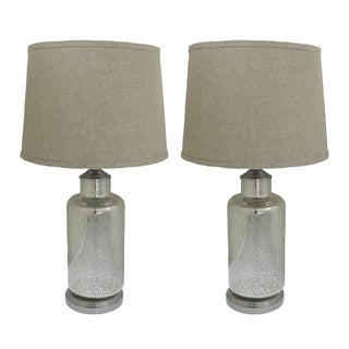 Mercury Silver Lamps Set of 2